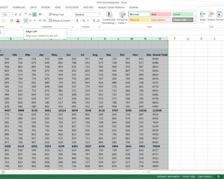 Use this Excel Print Formatting Every Time