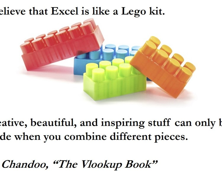 Excel: Lego for Grown-ups