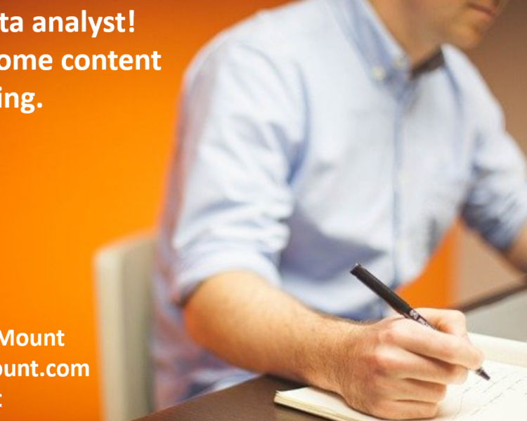 Hey, Analyst! Learn Some Content Marketing (Slides)