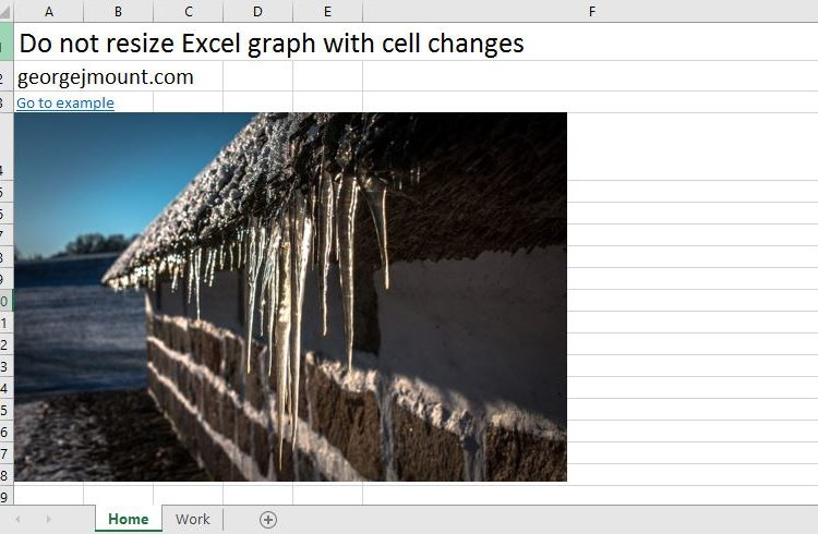 Excel Tip: Freeze Chart Size from Cell Adjustments