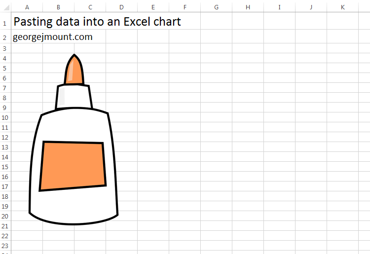 Pasting Data into an Excel Chart