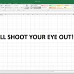You'll Shoot Your Eye Out! Cutting Back on Excel's White Glare