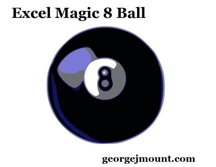 The Excel Magic 8 Ball