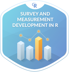 "My DataCamp course is live: ""Survey and Measure Development in R"""